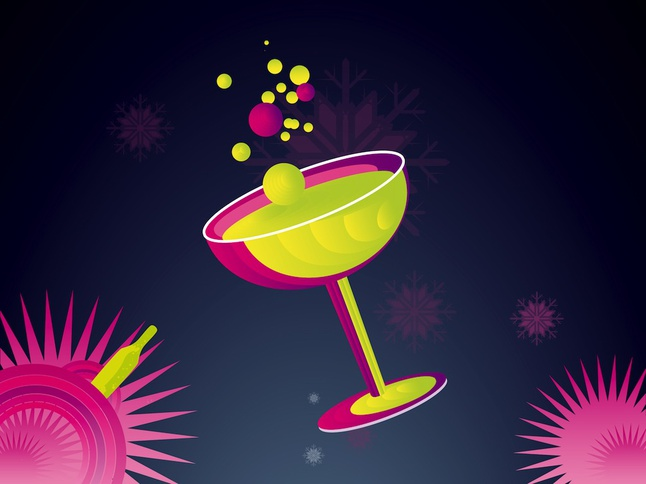 Champagne Illustration vector free