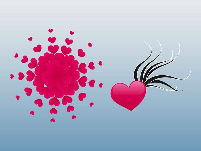 Heart Designs vector free