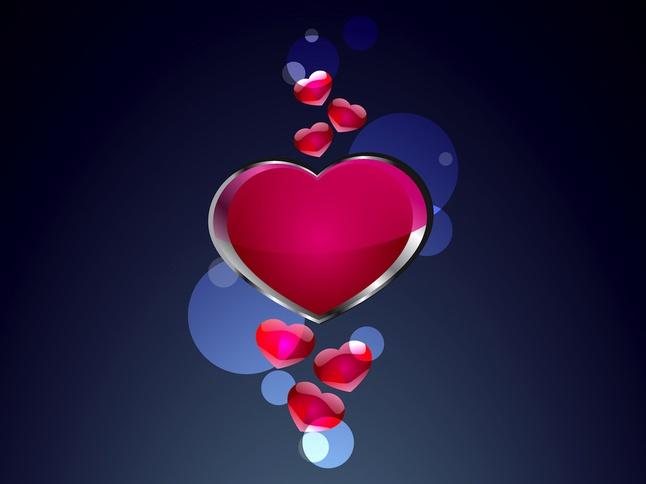 Hearts Composition vector free