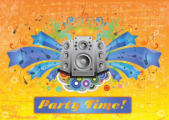 Party Footage vector free