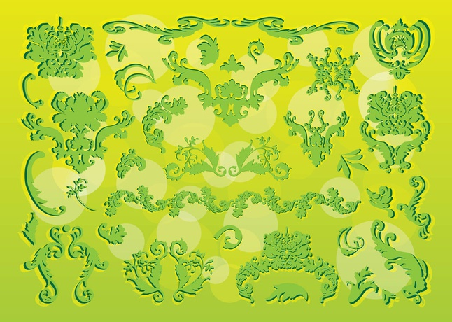 Victorian Nature Graphics vector free