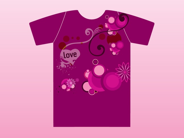 Violet Love T-Shirt vector free