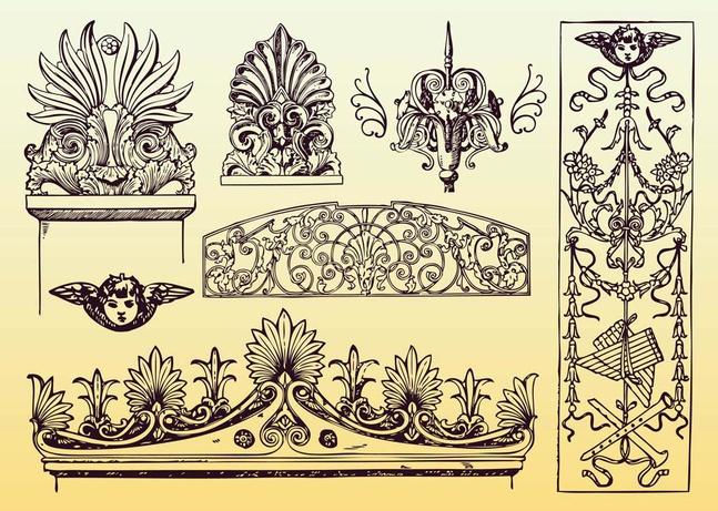 Antique Decoration Vectors free
