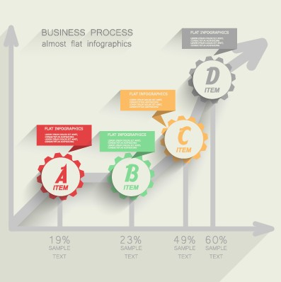 Business Infographic creative design 1038 free
