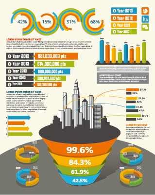 Business Infographic creative design 1284 free