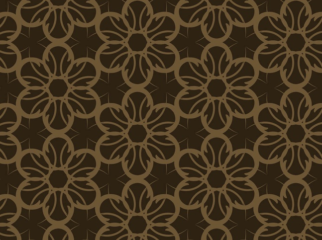 Dark Floral Pattern vector free