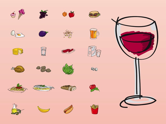 Food And Drinks vector free