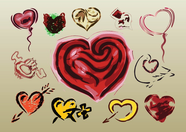 Love Vector Illustrations free