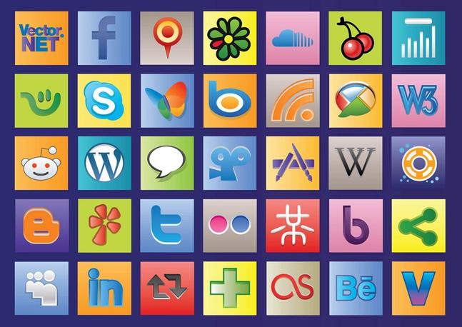 Social Web Vectors free