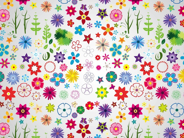 Spring Pattern vector free