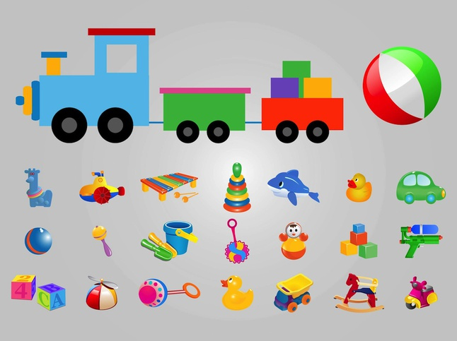 Toys vector free