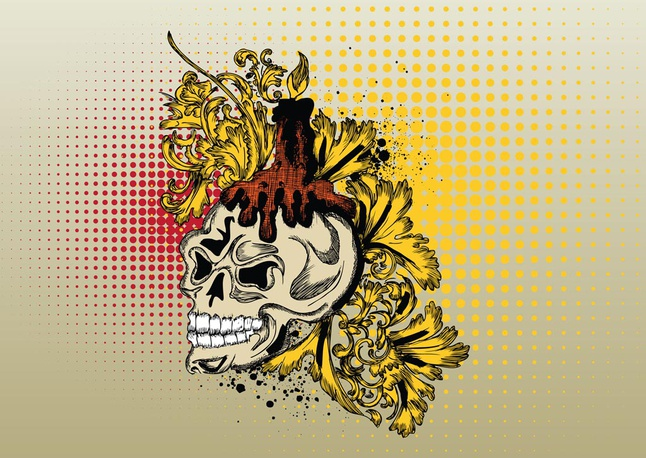 Vector Skull Print Graphics free
