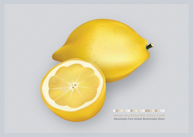 3D Lemons Fruit Vector free