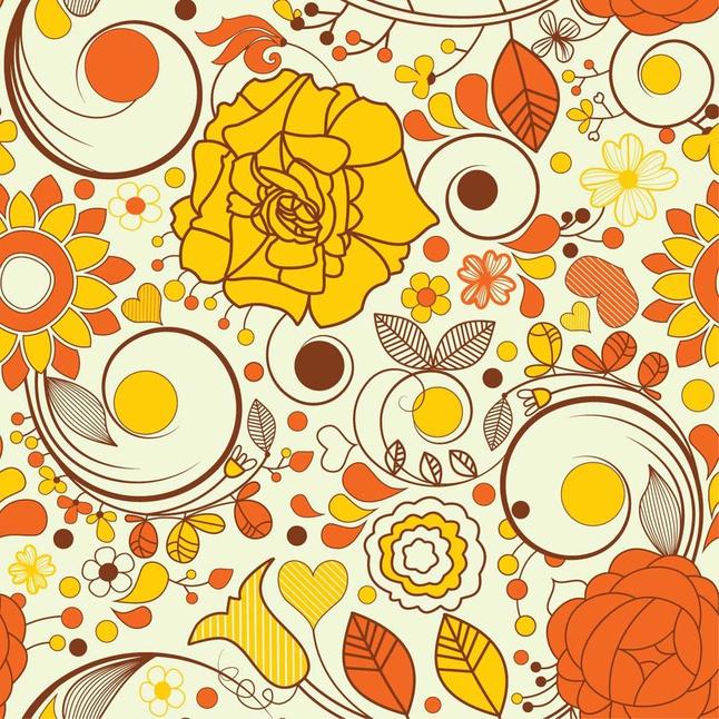 Autumn Flowers Wallpaper vector free