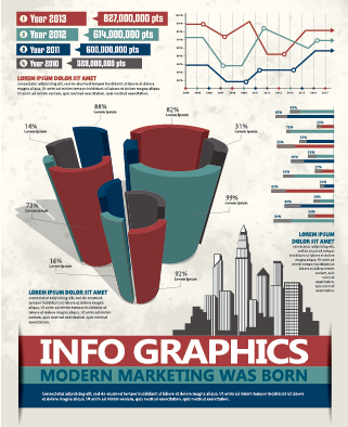 Business Infographic creative design 1276 free