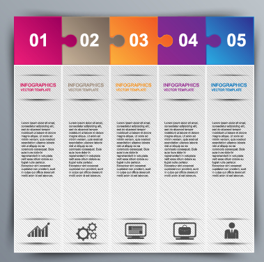 Business Infographic creative design 1382 free