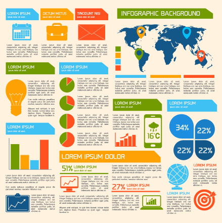 Business Infographic creative design 1421 free