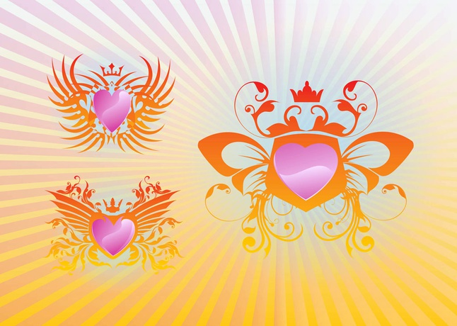 Cool Shields vector free