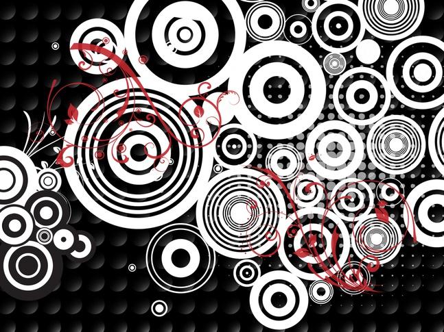 Dots Circles vector free