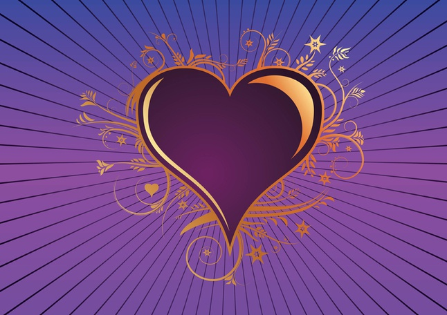 Heart of Gold vector free
