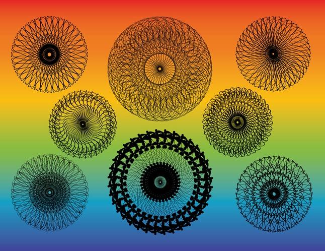 Kaleidoscope Vectors free