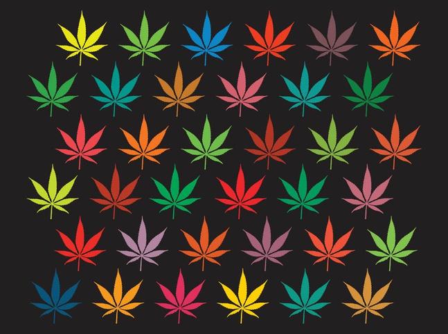 Marijuana Background Graphics vector free