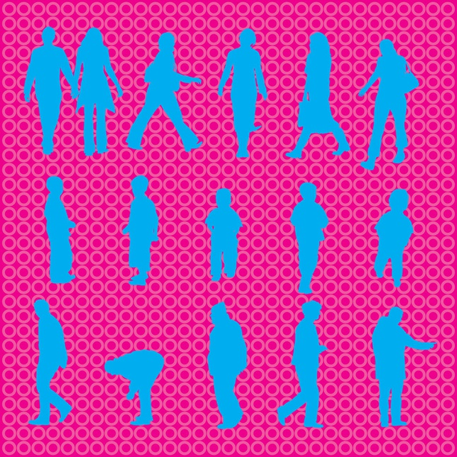 People Silhouettes vector free