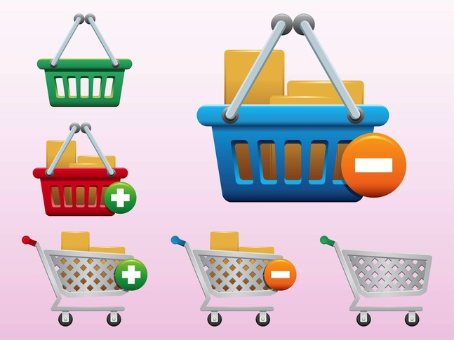 Shopping Icons vector free