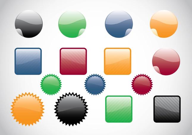 Web Buttons Vectors free