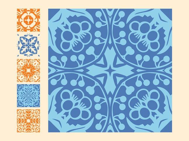 Vintage Tiles vector free
