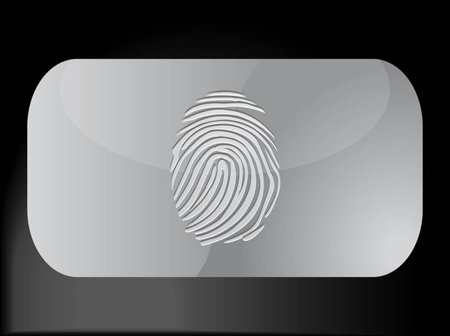 Fingerprint Business Card vector free