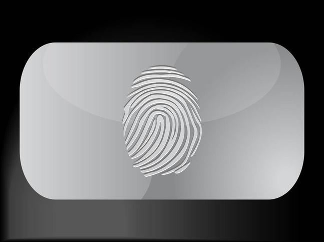 Fingerprint Business Card vector free