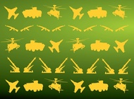 Military Icons Pattern vector free
