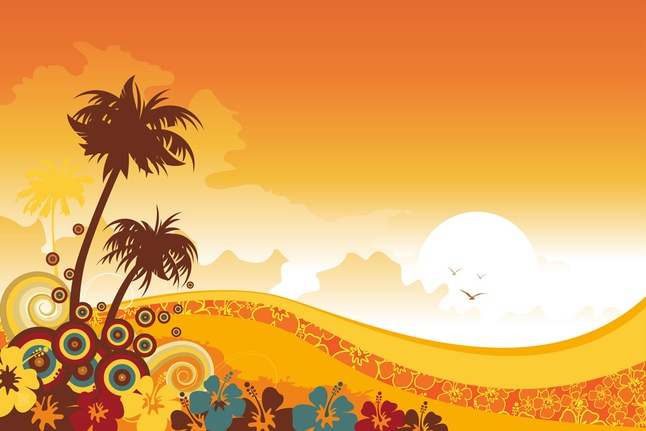 Tropical Background vector free