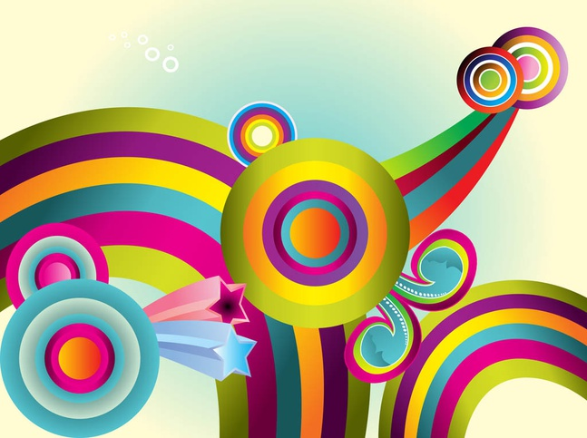 Background With Colorful Circles vector free