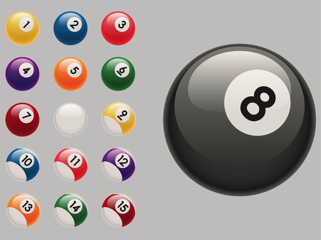 Billiard Balls vector free