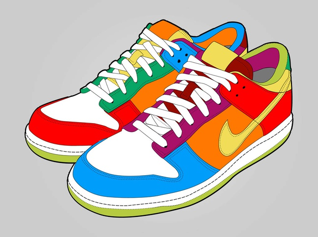 Colorful Shoes vector free