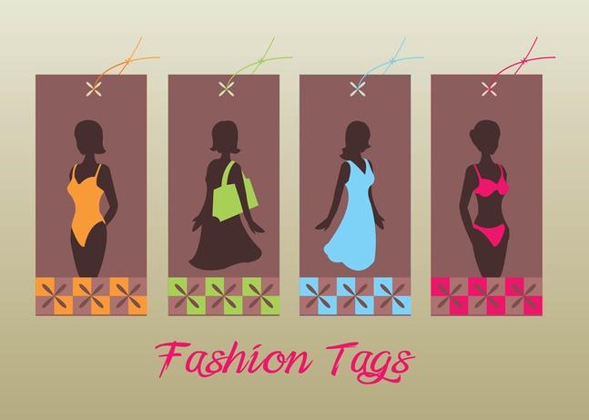 Fashion Tags vector free