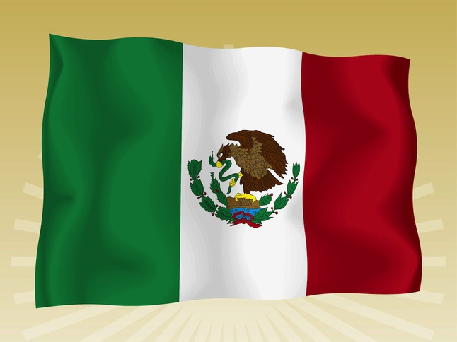 Mexican Flag vector free