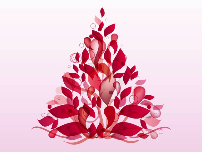 Abstract Floral Shape vector free