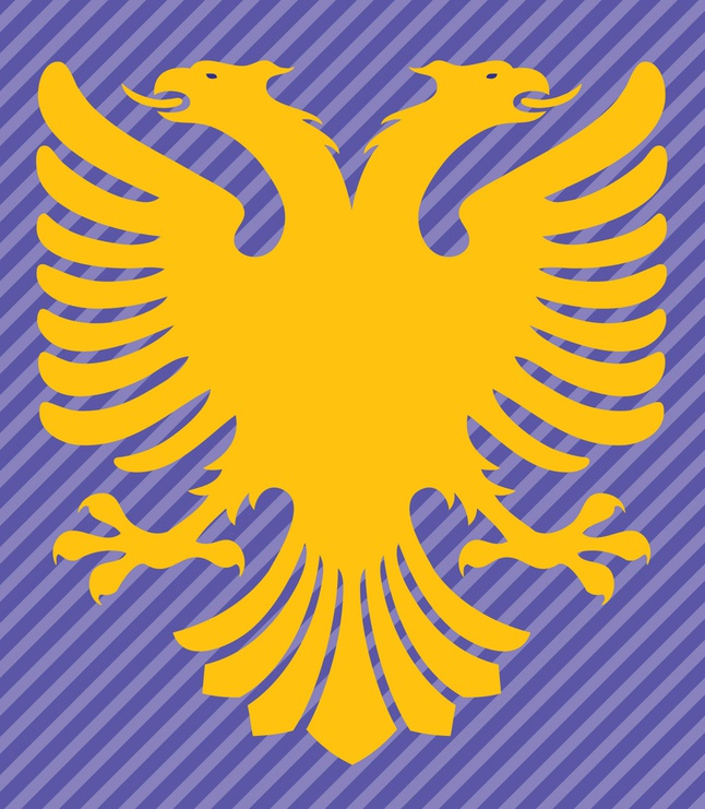 Albania Flag Double Headed Eagle vector free