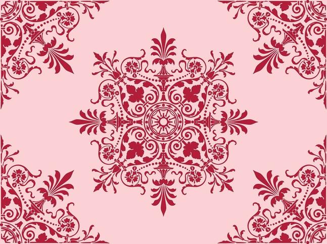 Floral Ornaments Vectors free