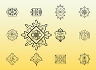 Floral Stamps vector free