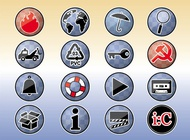 Tools Icons Buttons vector free