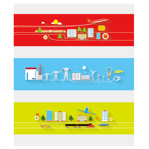 Creative banners web design vector graphics 02 free