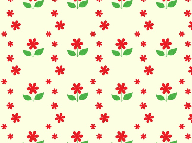 Flowers Seamless Pattern vector free