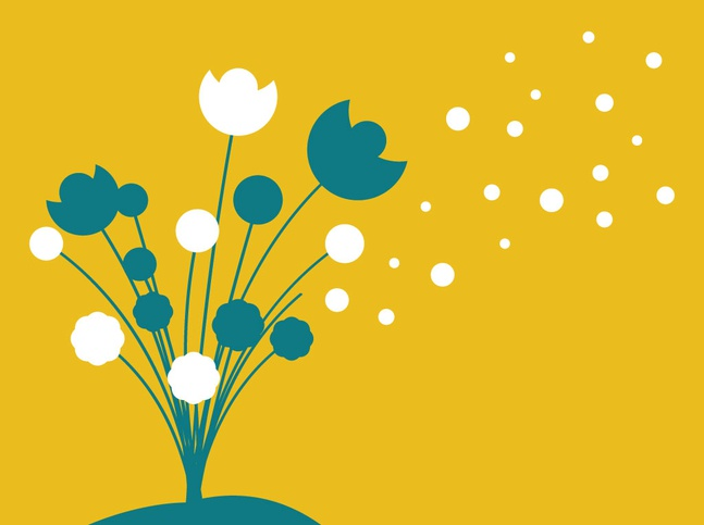 Flowers Silhouette Vector free
