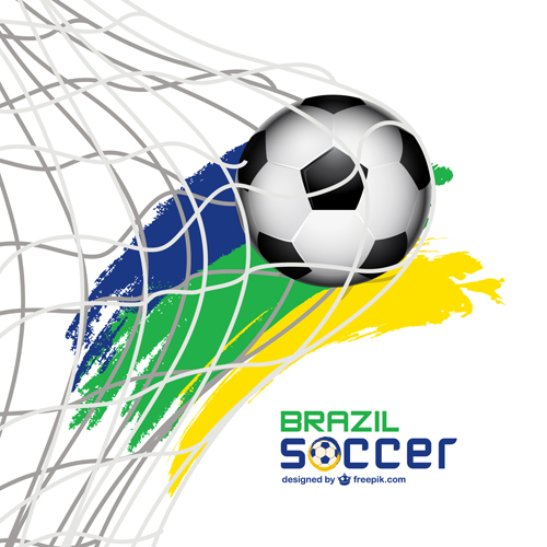 World Cup 2014 Brazil poster vector 01 free