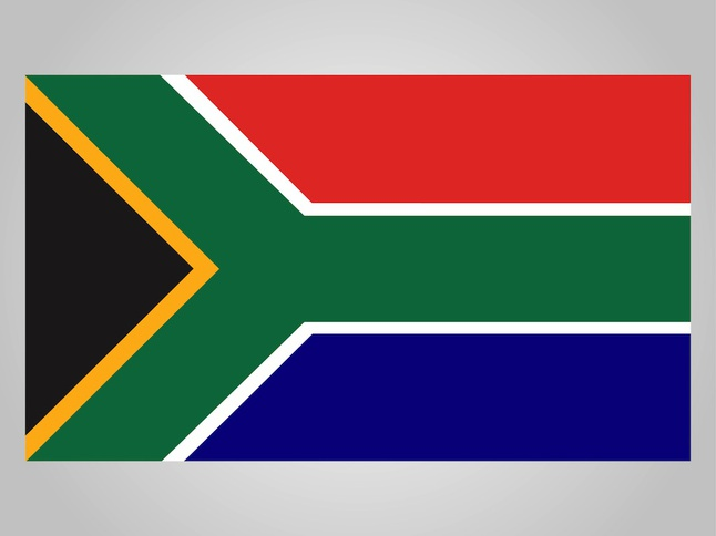 Flag Of South Africa vector free