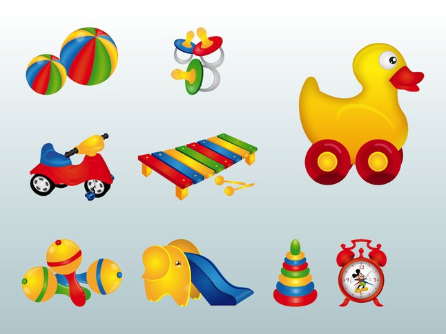 Colorful Toys vector free